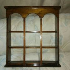 """Vintage Scheibe Wood Curio Wall Mount Open Shelf Display Solid Pine 24"""" Tall"""