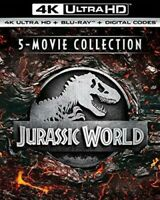 Jurassic World 5movie Collection [New 4K UHD Blu-ray] With Blu-Ray, Bo