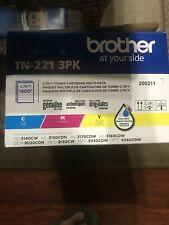 🔥 Genuine Brother Standard Yield Toner Cartridge • TN-221 3PK • New • Sealed