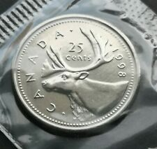 *** CANADA  25  CENTS  1998 ***  SEALED  PROOF  LIKE  *** KEY  DATE  ***