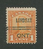 "CANADA PRECANCEL ""LINDSAY"" 1-149"