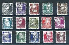 GERMANY DDR DEMOCRATIC REPUBLIC 1953 SCOTT 122-136 PERSONALITIES 2 SUPERB USED