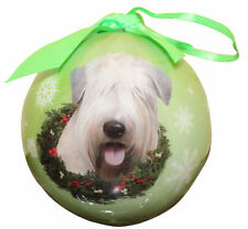 WHEATEN TERRIER CHRISTMAS BALL ORNAMENT DOG HOLIDAY XMAS PET LOVERS GIFT