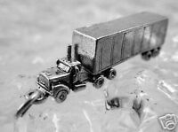 Tractor Trailer 3D Truck vehicle Sterling Silver 925 Charm Pendant LOOK Jewelry