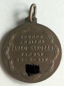 Football Calcio Serie A Napoli Gruppo arbitri Carlo Garozzo Referee Medal