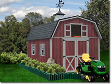 Best Barns Woodville 10x12 Wood Storage Shed Kit - All Pre-Cut