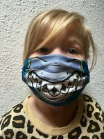 HLP Community Wende-Maske für Kinder Kindermaske Hai blue organic fairwear