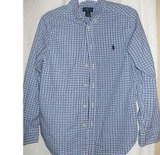 RALPH LAUREN BOYS DRESS SHIRT SIZE 12 BLUE STRIPPED