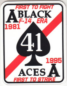 VF-41 BLACK ACES F-14 ERA 1981-1995 PVC (SOFT RUBBER) PATCH