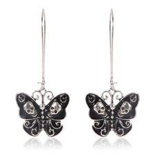 Women Lady Retro Punk Gothic Fashion Jewelry Butterfly Skull Dangle Earrings