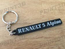 Porte clés / Keychain PVC souple Renault 5 Alpine A5 monogramme coffre