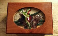 Pine Box with stain glass