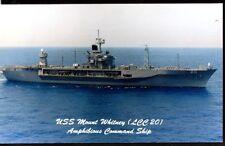 NAVAL SHIPS, USS MOUNT WHITNEY, LCC-20, AMPHIBIOUS COMMAND SHIP, UNUSED, (486