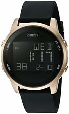 GUESS Men's U0787G1 Trendy Gold-Tone Stainless Steel Watch with Digital Dial