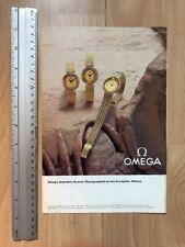 Omega Jewellery Quartz 1980 Advertisement Pub Ad Werbung