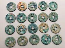 20 Zhi Dao Yuan Bao Coins With Blue Patina (995-997)-Northern Song Dynasty