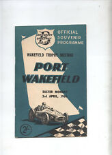 1961 Port Wakefield Programme Racing Touring Sports Motorcycle Car