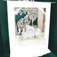 The Nativity Laser Gallery Hallmark Keepsake NEW MINT Lighted Christmas Elegant