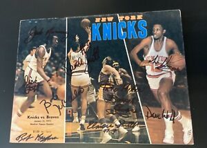 Vintage Buffalo Braves Autographed  NBA Road Program vs. New York Knicks