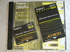 "Original RARE Roland 90' JD800 JD 990 SL JD80 03 ""Rock DRUM"" PCM + DATA JAPAN"