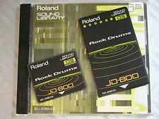 "Original RARE Roland 90' JD800 JD 990 SL JD80 03 ""Rock DRUM"" PCM + DATA JAPAN"
