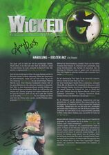 WICKED Handlung orignal signiert AMY ROSS HELEN WOOLF 20x30 IN PERSON Autogramm