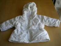 giubbetto giacca giubbotto cappotto abito bambina bimba Prenatal bianco 3/6 mesi