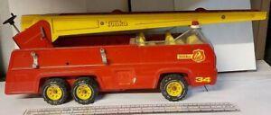 Vintage Metal XR - 101 Six Wheeled Red & Yellow Fire Engine Nice Item Tonka