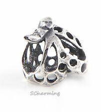 Authentic Trollbeads Silver bead Dancing Butterfly TAGBE-10102