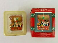 Enesco Tons of Toys Christmas Ornament Chest Treasures 577510 1990