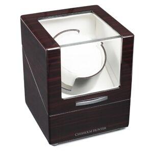 Chisholm Hunter Luxury Mahogany Effect Single Watch Winder