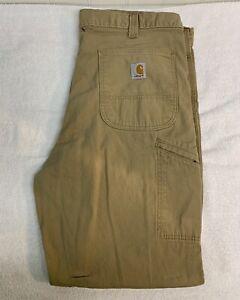 Carhartt Rugged Flex Relaxed Fit Work Pants Golden Khaki 38x30