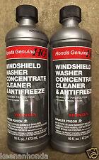 Genuine OEM Honda Windshield Washer Concentrate Cleaner & Antifreeze Fluid 2 Pk