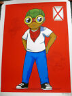Hebru Brantley The Champ Is Here 2015 Poster/Print Chicago Street Art Artist