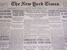 1933 DECEMBER 9 NEW YORK TIMES - LINDBERGHS FLY TO PARA - NT 4160
