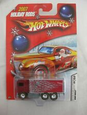 Hot Wheels 2007 Holiday Rods 3/6 HiWay Hauler Red Variation Mint In Card