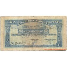 50 Piastres SYRIE 1942 P.52 TB/F