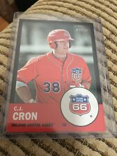 2012 Topps Heritage Minor League Black Parallel C.J. Cron RC 24/96 N0n Auto LA