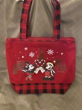 Disney Parks 2019 Christmas Holiday LG Mickey & Minnie Tote Bag Disneyland NEW