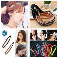 Elastic headband hair band non slip braided plait synthetic yoga sport summer