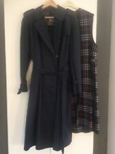 535b0727d297 Vintage Burberry Navy Trench Coat 16 with Wool Liner.Free UK P P