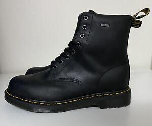 Dr. Martens 1460 WP Waterproof Mens Sz 12 Black Combat Leather Work Boots NEW!!!