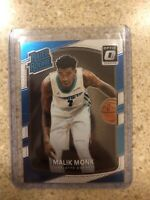 2017-18 Panini Donruss Optic Malik Monk RATED ROOKIE Rc #190 Charlotte Hornets
