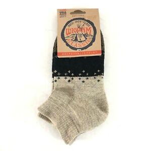 Wigwam Unisex Socks Ankle Quarter Wool Blend Beige Black W 6-10 M 5-9.5