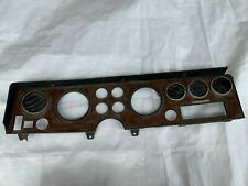 1973-1977 Grand Prix Dash Bezel Woodgrain Wood Grain Cluster Instrument Gauge