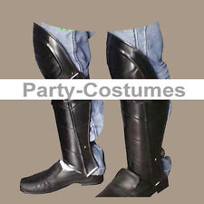 Steel Leg Armor Set Medieval Costume Steampunk Ancient Iron Knight Greaves