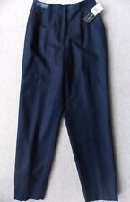 NWT Womens DAVID JONES 100% WOOL Pants S 10 Size 12 M Lined Navy Blue Ladies NEW