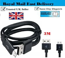 USB A to MICRO B FAST CHARGE Cable 3m BLACK for Samsung Galaxy S3 Mini, S4 Mini