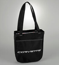 Corvette Reversible Travel Tote Bag - Black & White w C4 C5 C6 Logos - GM