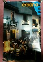 "ORIGINAL 1970'S SPAIN ESPANA TORREMOLINOS MALAGA PRINT TRAVEL POSTER 39"" x 24"""